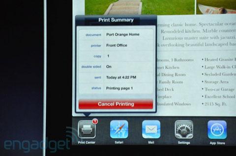 iOS impresión