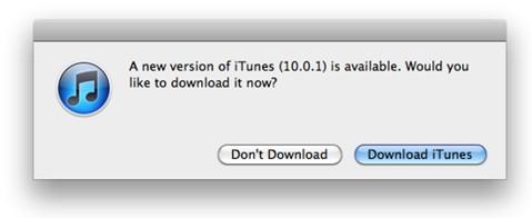iTunes 10.0.1
