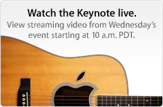 Streaming de la keynote de Apple