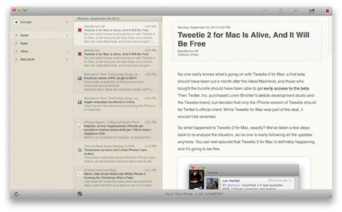 Reeder para Mac 2