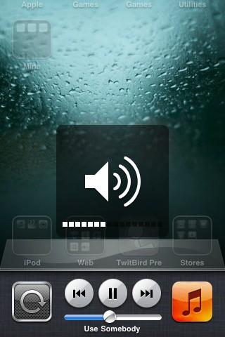 Ajustar volumen desde la barra de multitarea del iOS 4