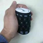 Teclado flexible compatible con el iPad