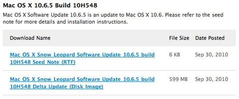 Mac OS X Build 10h548