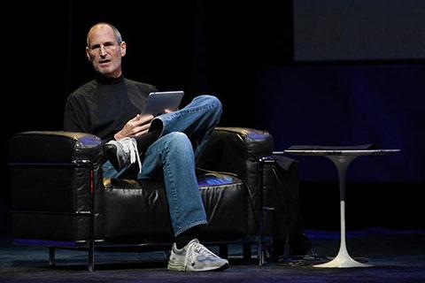 Steve Jobs con su iPad
