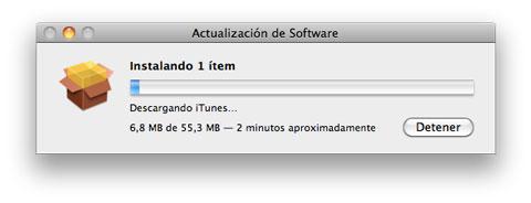Actualización iTunes 10.1