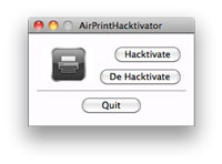 Activa AirPrint en Mac OS X 10.6.5