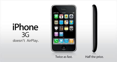 ¿AirPlay no estará disponible en el iPhone 3G?