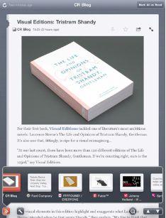 The Feed: Google Reader gratis en tu iPad