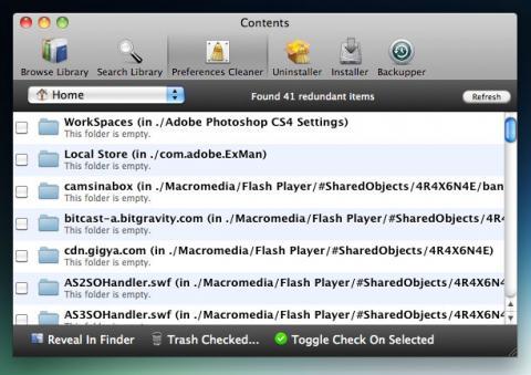 Contents, o cómo eliminar archivos innecesarios del sistema