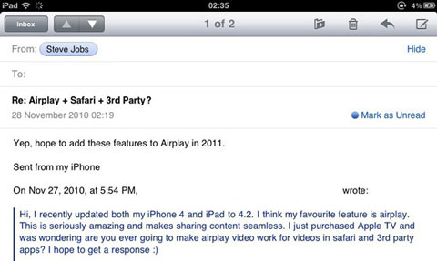 AirPlay Mail
