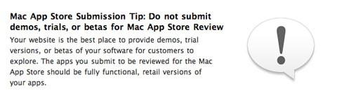 Aviso Mac Appstore