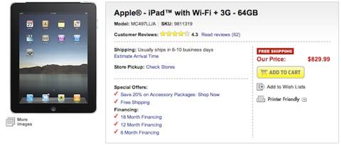 iPad en BestBuy