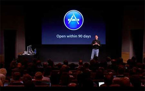Steve Jobs presenta la Mac AppStore