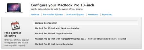 MacBook Pro con opciones rápidas