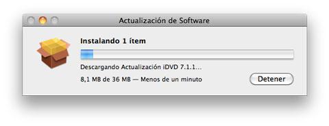 Actualización iDVD