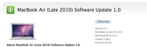 Actualización MacBook Air