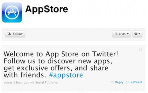 AppStore en Twitter