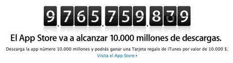 10.000 millones de apps descargadas