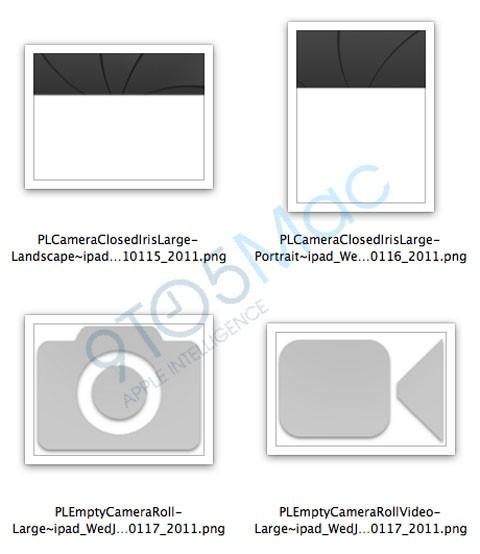 Iconos cámara iPad2