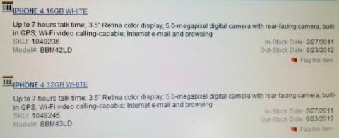 Inventario Best-Buy iPhone 4 Blanco