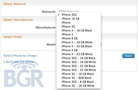 iPhone blanco AT&T