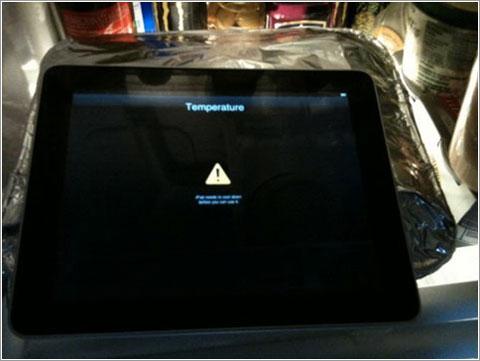 Calentamiento iPad