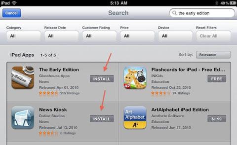 Novedades AppStore