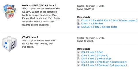 iOS 4.3 Beta3