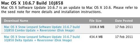 Beta 5 de Snow Leopard 10.6.7