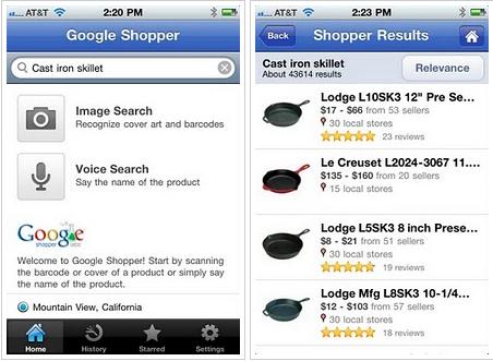 Google Shopper, ya disponible para iOS