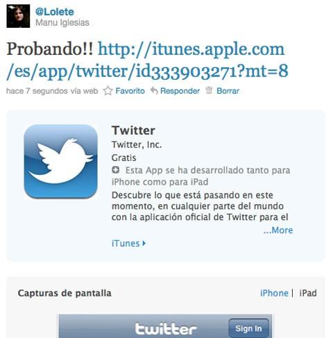 Apple se integra con Twitter