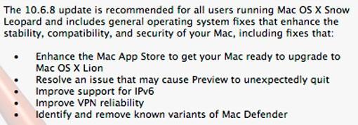 Características Snow Leopard 10.6.8