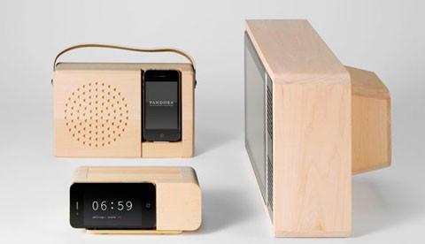 Dock para iPhone de madera