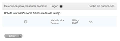 Oferta trabajo Marbella