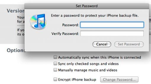 Encriptación iTunes