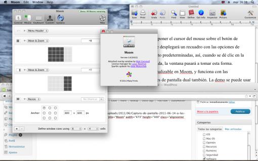 Moom Window Manager para Mac OS X