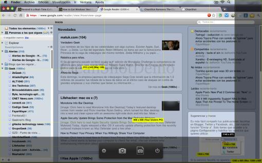 CleanShot on Mac OS X