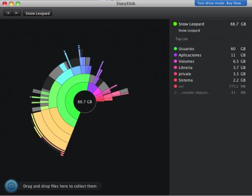 DaisyDisk control visual del contenido de tu disco duro
