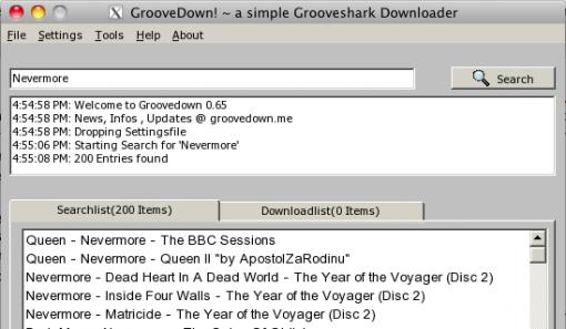 Groovedown en Mac OS X vía WineBottler