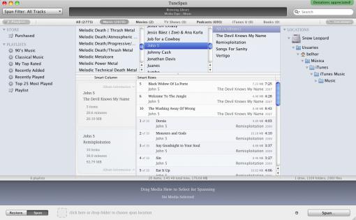 Transfiere el contenido de iTunes a otro disco externo con TuneSpan