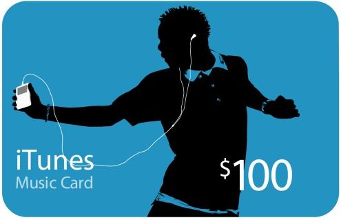 Tarjetas iTunes 100 dólares