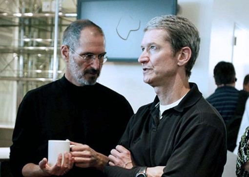 Tim Cook con Steve Jobs