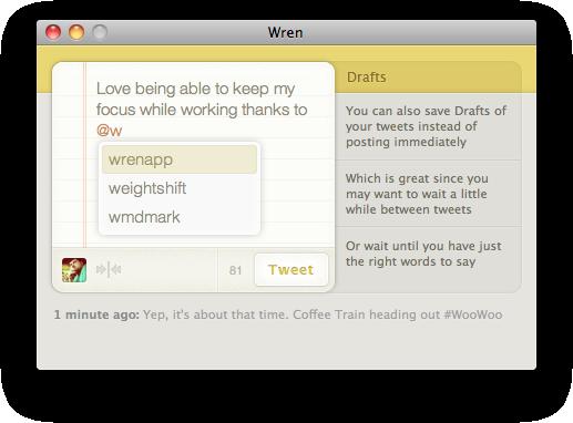 Wren, cliente de twitter sin distracciones