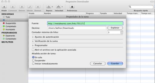 Progressive Downloader: un gestor de descargas para Mac