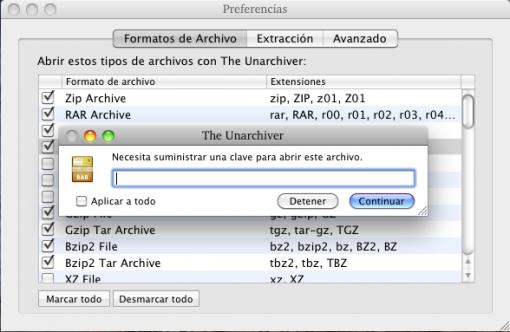 Extractor de archivos para Mac: The Unarchiver