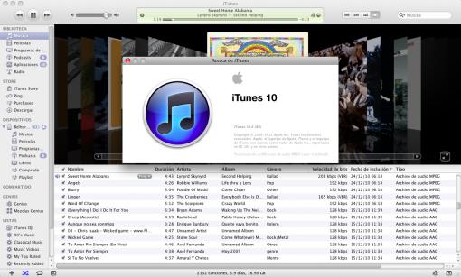 Nuevo iTunes 10.4 para OS X Lion