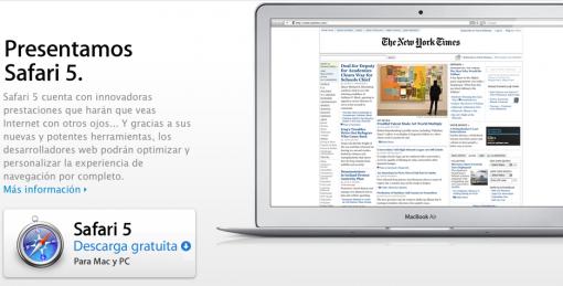 Nuevo Safari (5.1) para Mac OS X Snow Leopard y Lion