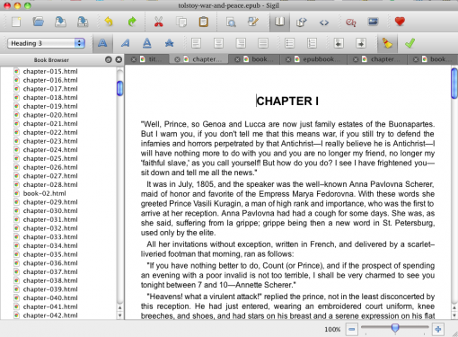 Crea tus propios eBooks con Sigil