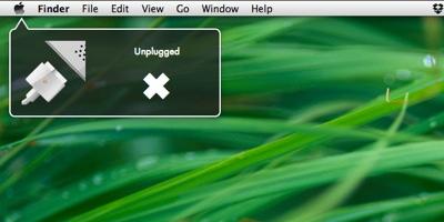 recibe notificaciones cuando se pierda la conexción electrica con UnPlugged