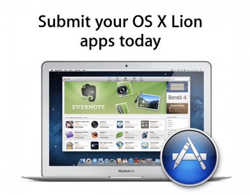 Los desarrolladores ya envían aplicaciones para la Mac AppStore de Lion